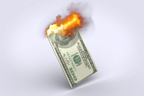 dollar 100 dollar bill dollar burning