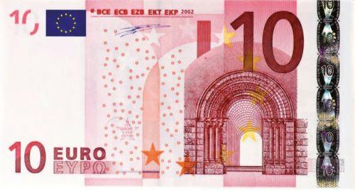 dollar bill 10 euro money