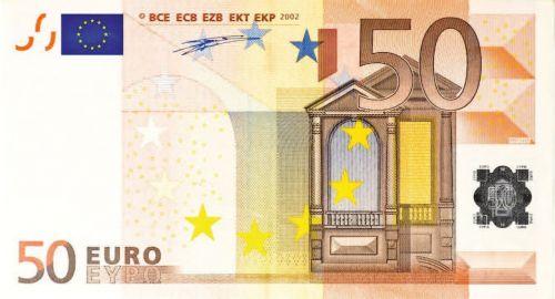 dollar bill 50 euro money