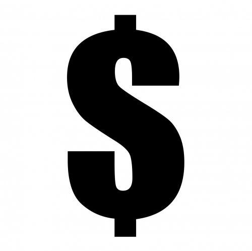 Dollar Sign Black