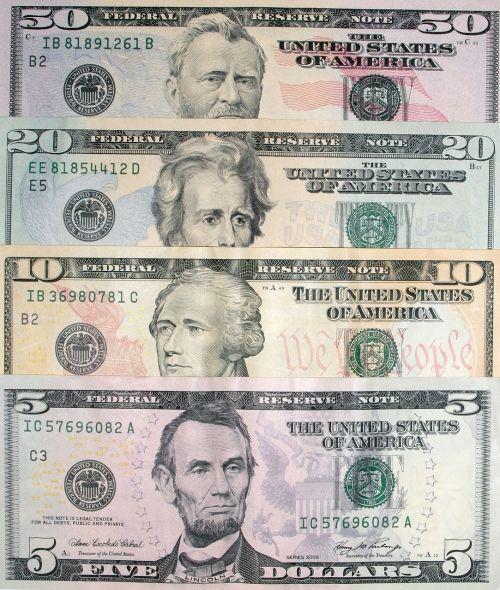 dollars dollar bills banknotes
