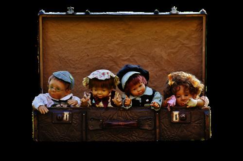 dolls children luggage