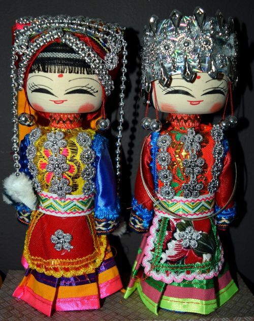 dolls chinese wooden