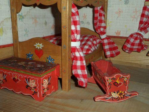 dolls houses rustic furniture bedroom