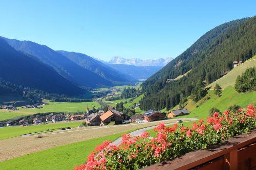 dolomites mountains valley
