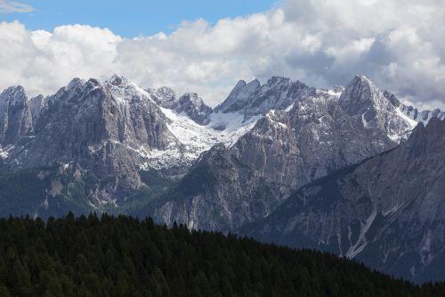 dolomites high mountains lienz dolomites