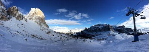 dolomites panorama ski