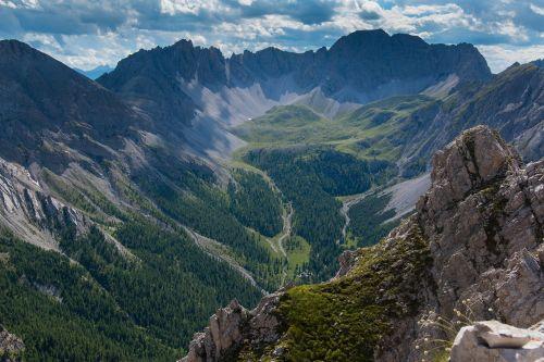 dolomites alpine panorama