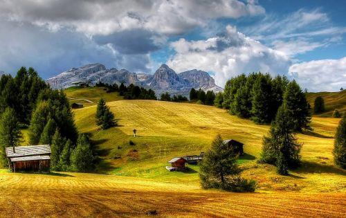dolomites sella mountains
