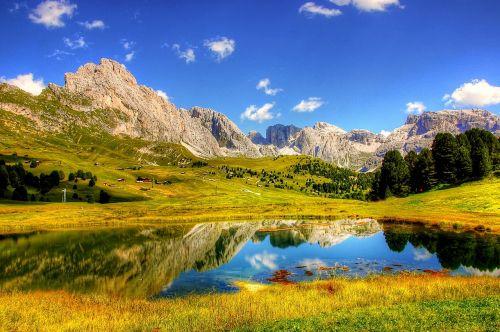 dolomites mountains alpine