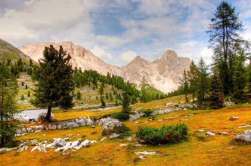 dolomites fanes mountains