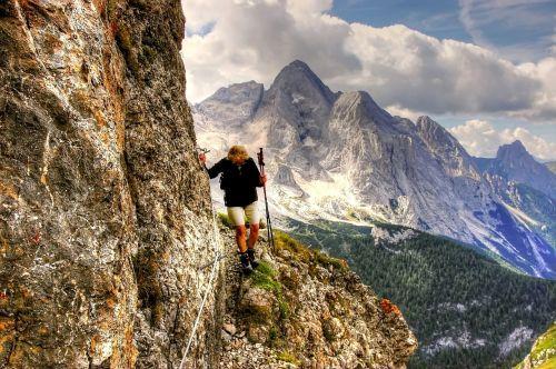 dolomites climb mountains