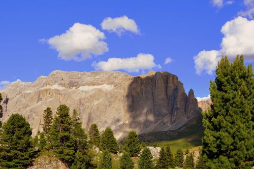 dolomites shadow clouds