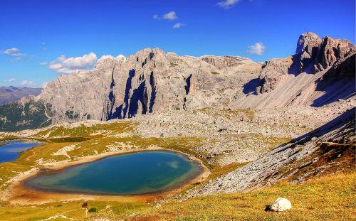 dolomites three zinnen mountains