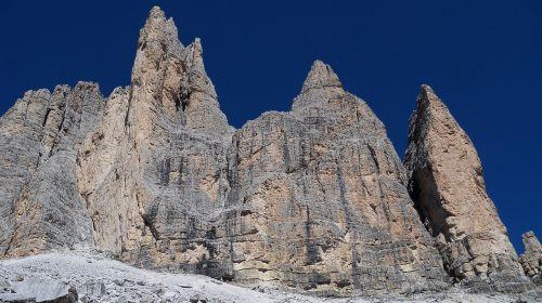 dolomites three peaks mountain