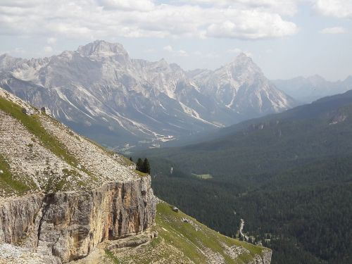 dolomites mountains slope
