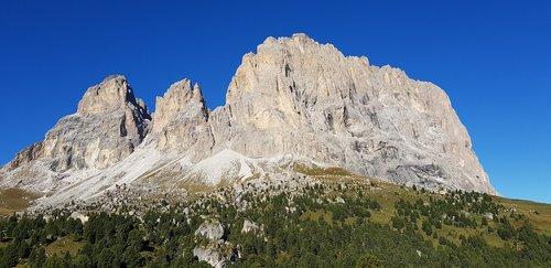 dolomites  mountain  the langkofel