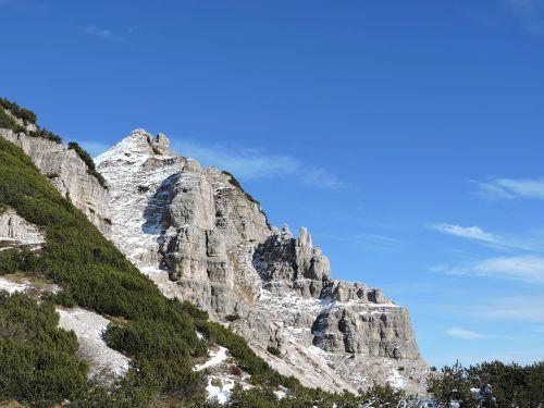 dolomites small mountain