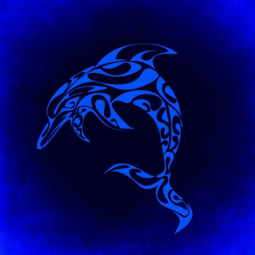 dolphin mystical background