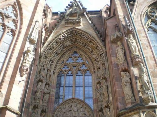 dom worms church window