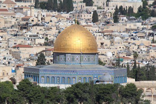 dome of the rock  islamic mosque  sacred place
