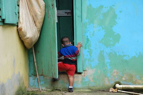 dominican republic children typical house