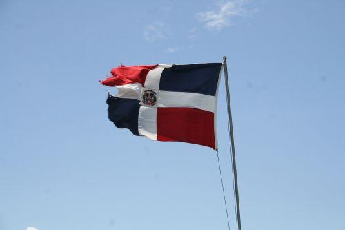dominican republic flag wind