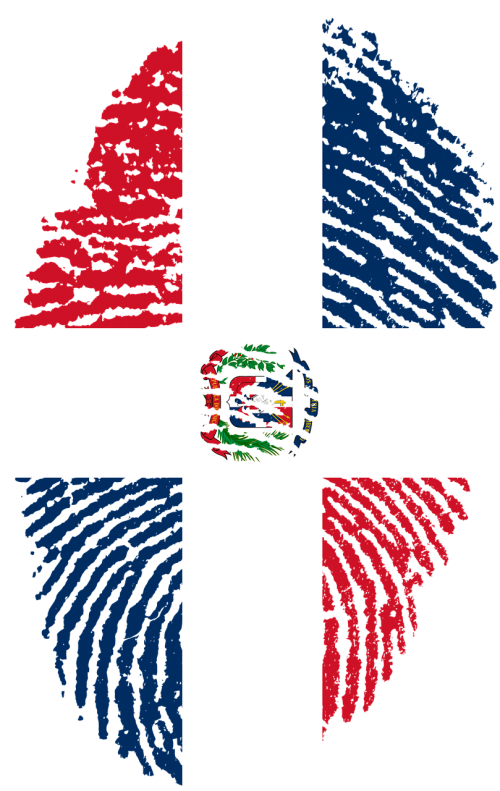 dominican republic flag fingerprint
