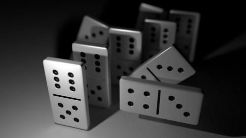 dominoes black white domino-game