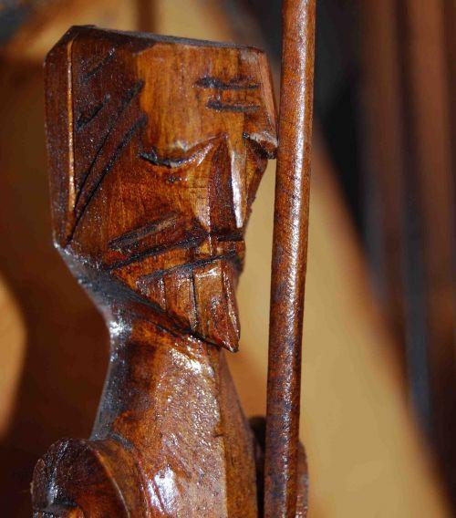 don quixote carving wood