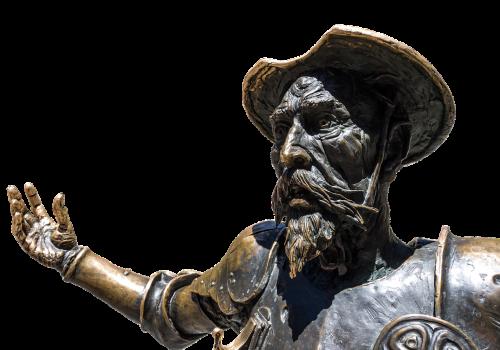 don quixote spain statue
