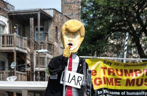 donald trump liar protest