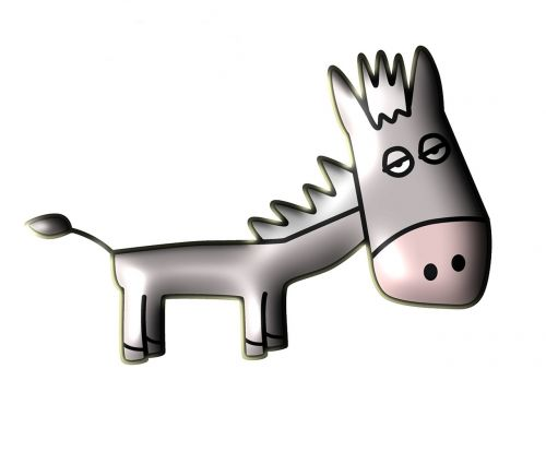 donkey cute cartoon