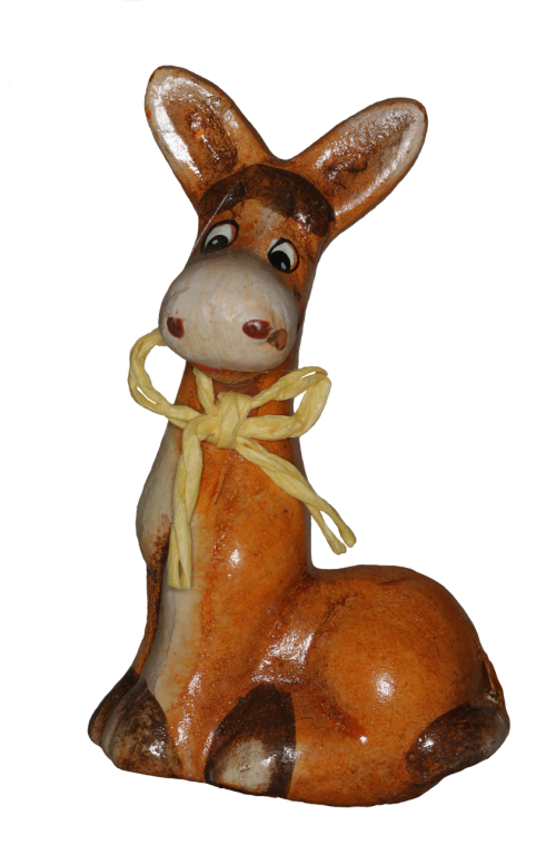 donkey ceramic decoration