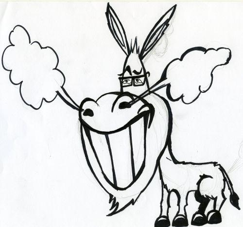 donkey caricature animal