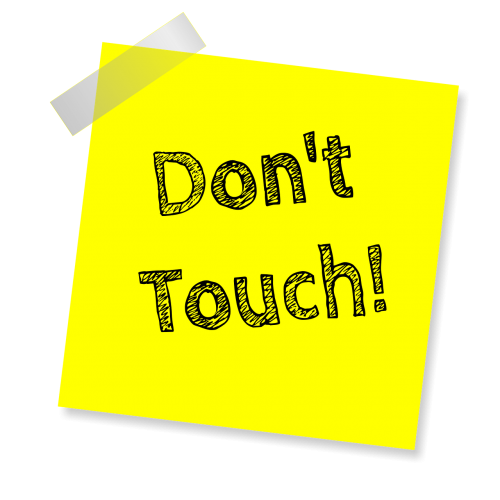 don't touch reminder post note