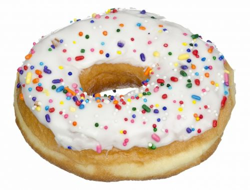 donut white icing frosting