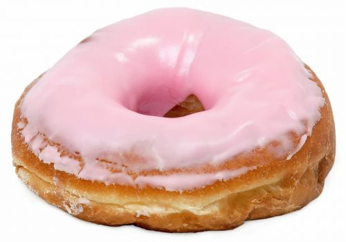 donut frosted pink