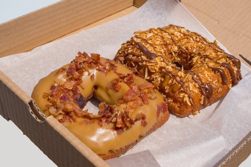 donuts  fried  bacon