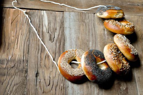 donuts hung wood