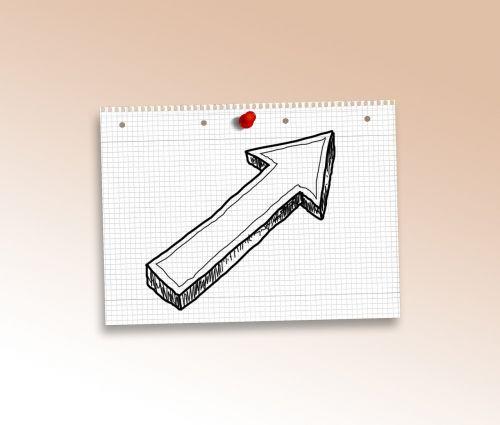 doodle arrow paper