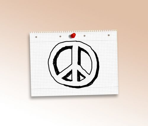 doodle peace characters