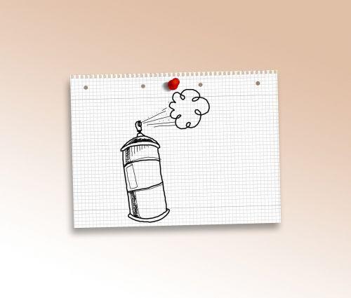 doodle spray grafitti