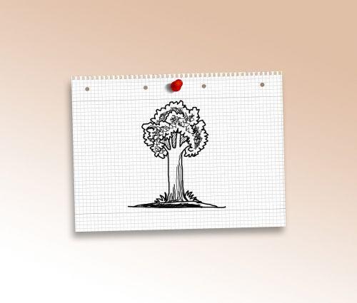 doodle tree green