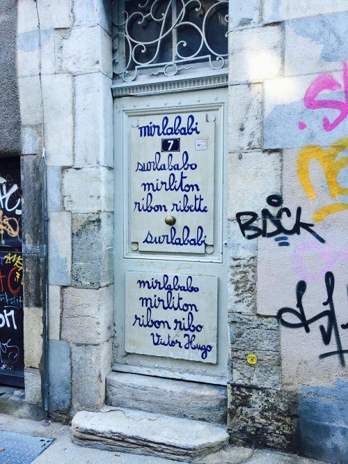 door calligraphy letters