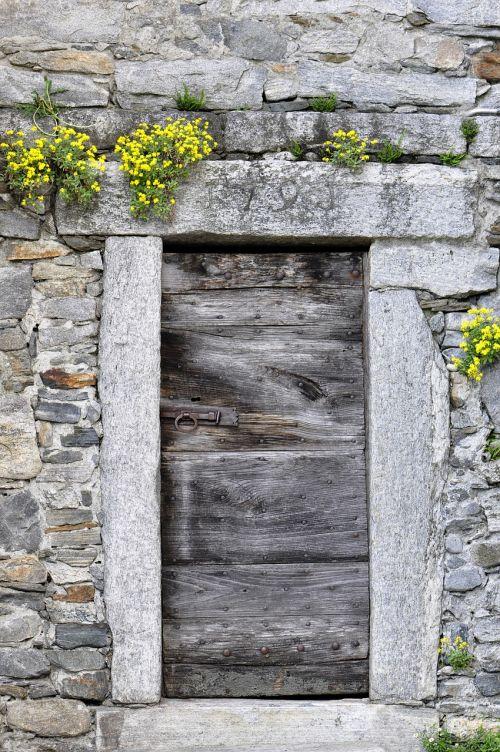 door wood stone