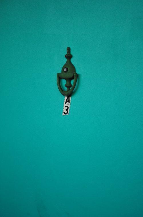 door knocker green