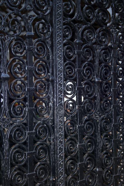 door metal black