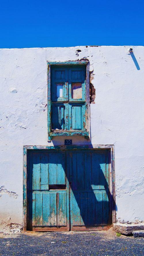door blue sky