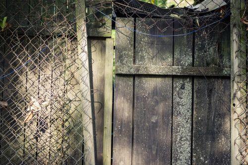 door wooden door fence